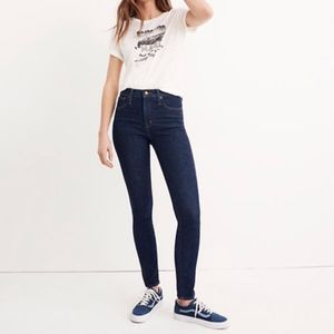 """Madewell 10"""" High Rise Skinny Jeans Lucille Wash"""